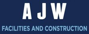 Wine D'Vine Sponsor AJW Facilities and Construction Logo