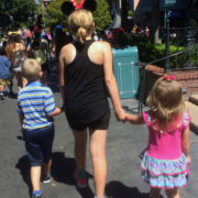 Foster children at youth walking in Disneyland