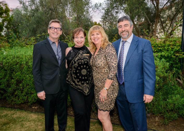 Max Webb & Sheila Ferguson with Leslie & Jim Levinson at Wine D'Vine 2016