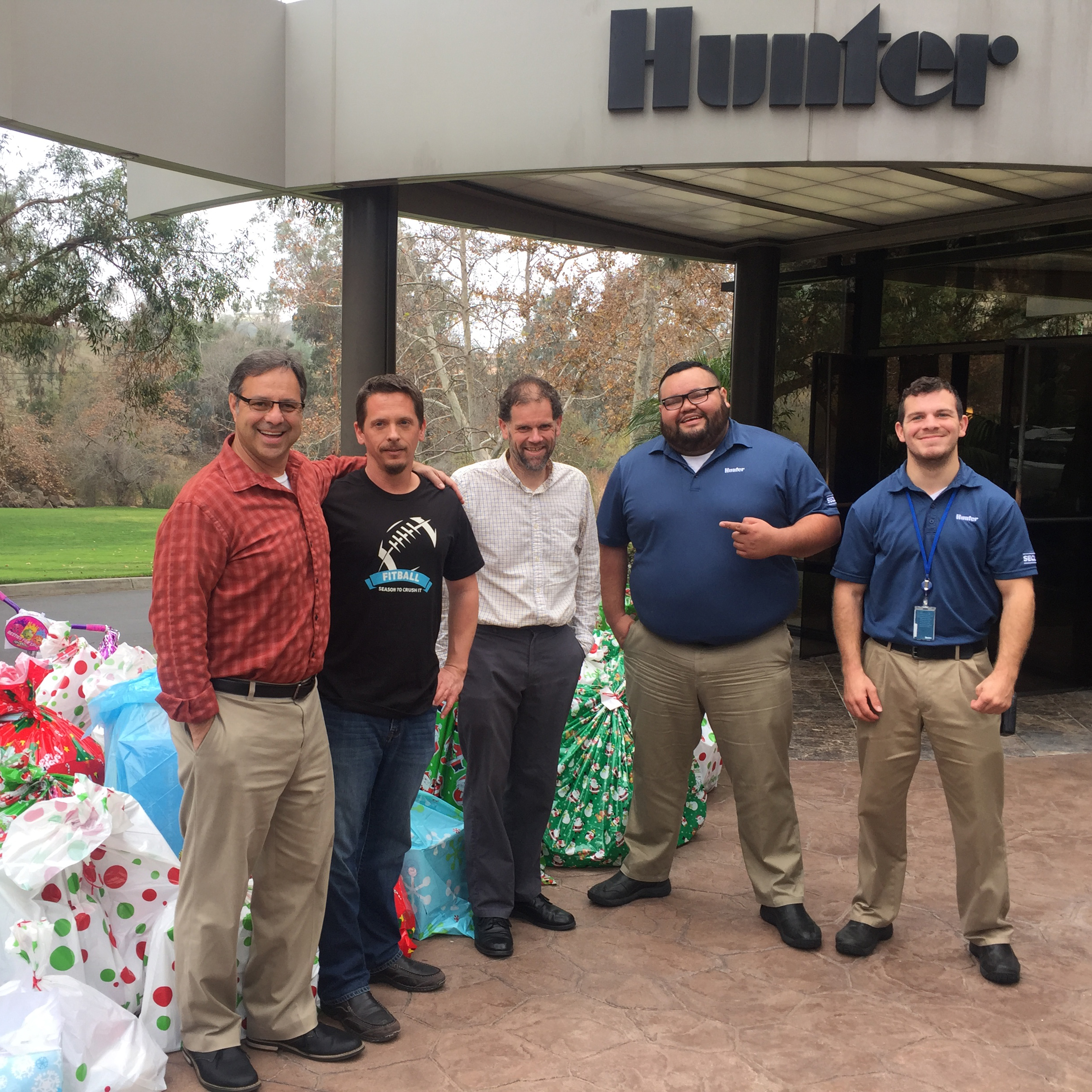 Donating Christmas Gifts: Hunter Industries Employees Donate Holiday Gifts